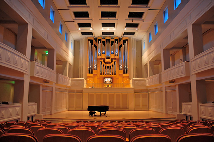 Auer Hall of Indiana University's Jacobs School of Music